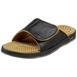Reflexology massage nodes work to stimulate, relax, and refresh feet with every step you take. These sandals are specifically designed to stimulate the soles of the feet which have hundreds of nerve endings.