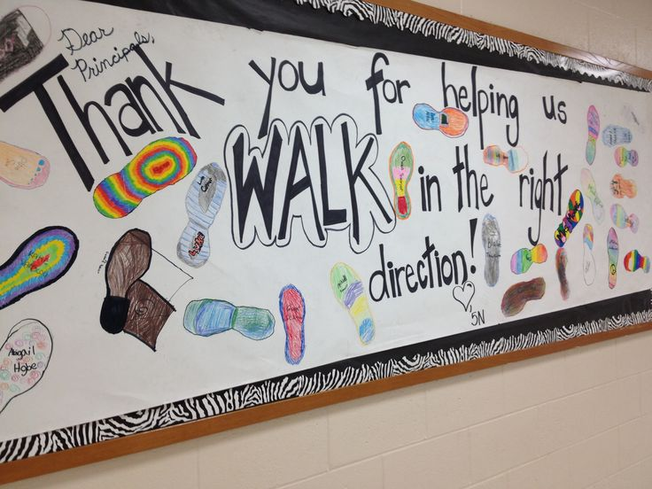 My principal appreciation banner we made!