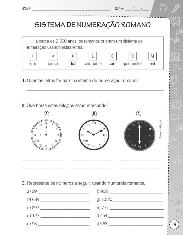 Números e Algarismos         O conjunto de números naturais      Sucessor e Antecessor      Sistemas de Numeração         Sistema de Nume...