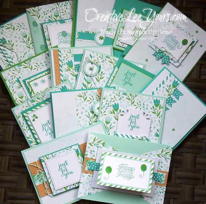 Pocketful of Cheer March 2016 Paper Pumpkin by Wendy Lee,  - Cucumber Crush, Pool Party and Bermuda Bay