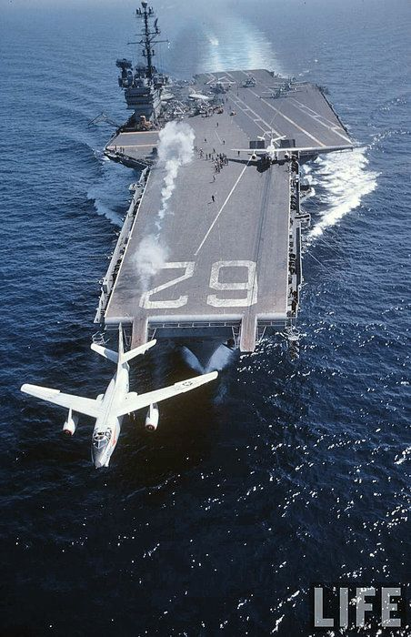 Skywarrior launches from USS Independence (CVA-62)