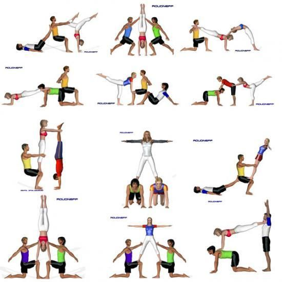 ejercicios de Acrosport para tríos