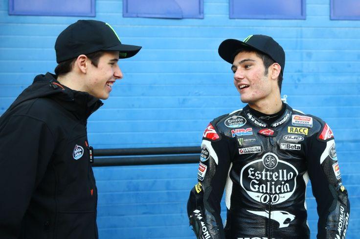 Alex Marquez and Navarro, Jerez Moto3 test, feb 2015