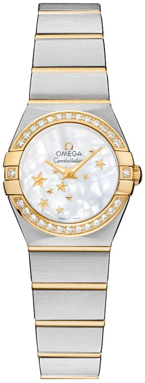 123.25.24.60.05.001  NEW OMEGA CONSTELLATION LADIES WATCH  IN STOCK   - FREE Overnight Shipping | Lowest Price Guaranteed    - NO SALES TAX (Outside California)- WITH MANUFACTURER SERIAL NUMBERS- White Mother of Pearl Dial - 28 Diamonds Set on Bezel - Date Feature - Battery Operated Quartz Movement- 3 Year Warranty- Guaranteed Authentic - Certificate of Authenticity- Manufacturer Box