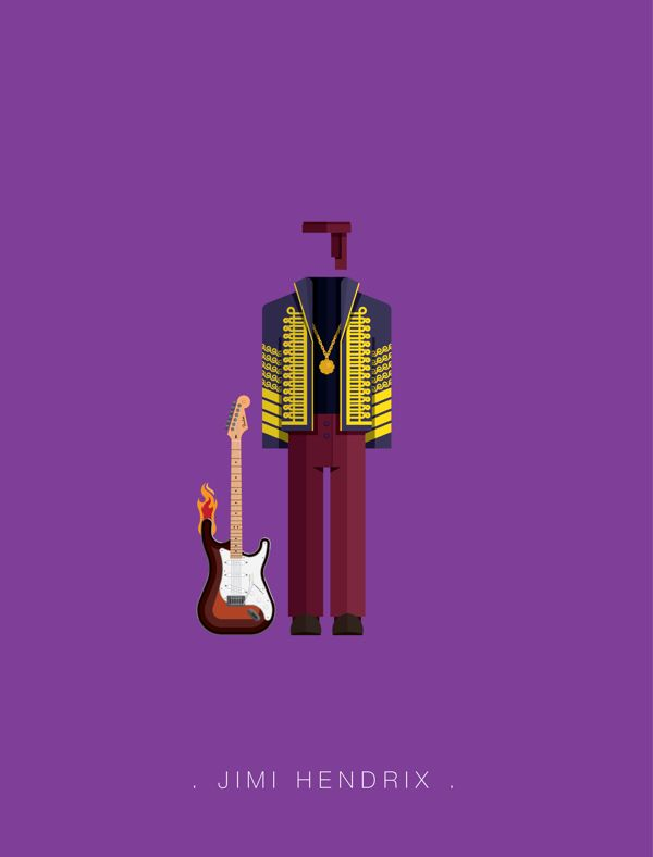 Famous Costumes Posters | Music by Frederico Birchal, via Behance