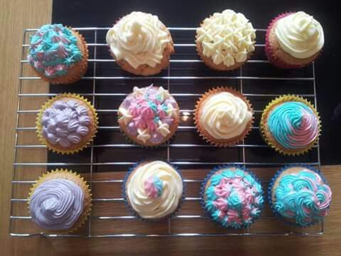 Coloured cupcakes