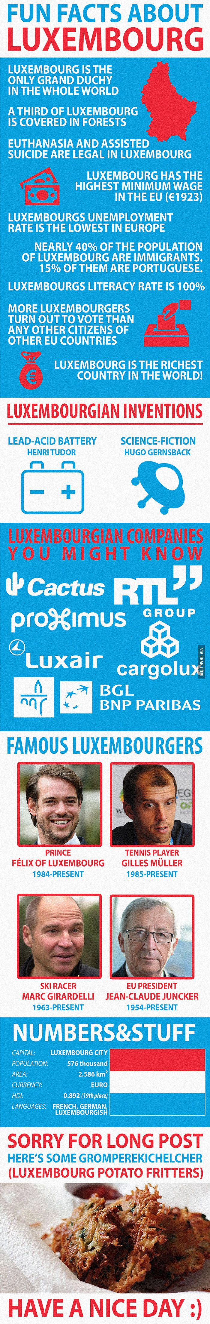 Fun Facts about Luxembourg