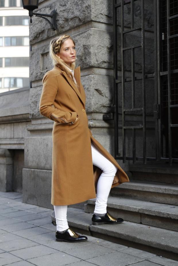 Dagens bloggstil, vår, antrekk, kamel, kåpe, hvitt, flette, Nathalie Helgerud, mote, stil