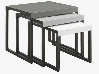 KILO GREYS Metal Multi-coloured metal nest of 3 side tables - HabitatUK