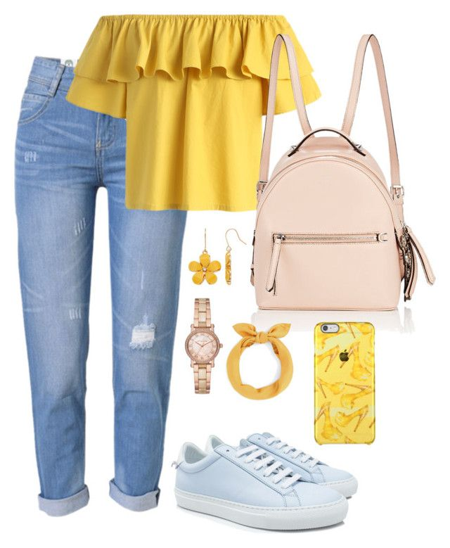 """""""Back to School"""" by pitaa29 on Polyvore featuring WithChic, Chicwish, Fendi, Givenchy and Michael Kors"""