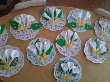 Как делать цветы из ватных дисков своими руками, мастер класс