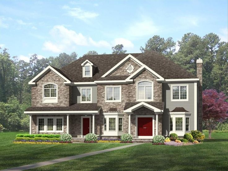 254 best new home design ideas images on pinterest new Custom estate home plans