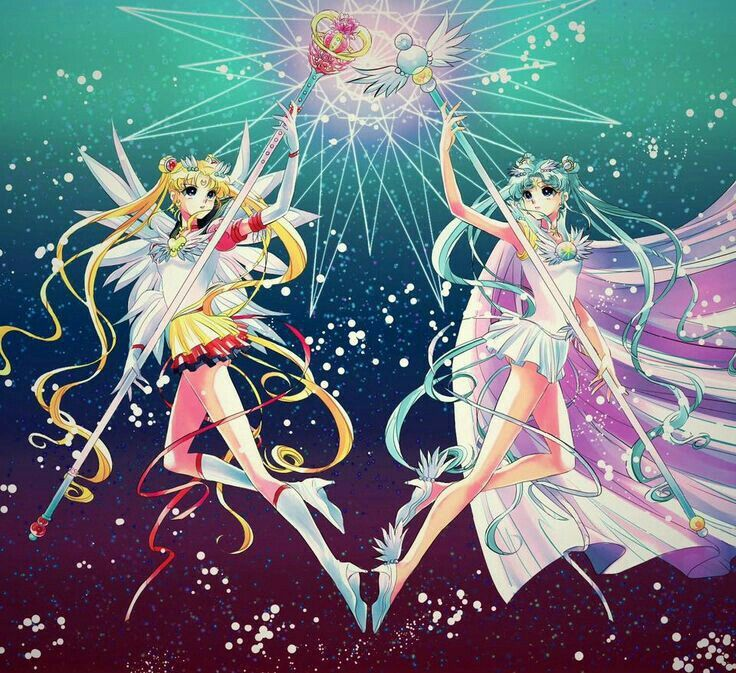 Eternal Sailor moon & Sailor Cosmos | I bet in sailor moon crystal season 5 that their gonna put in the anime aren't they