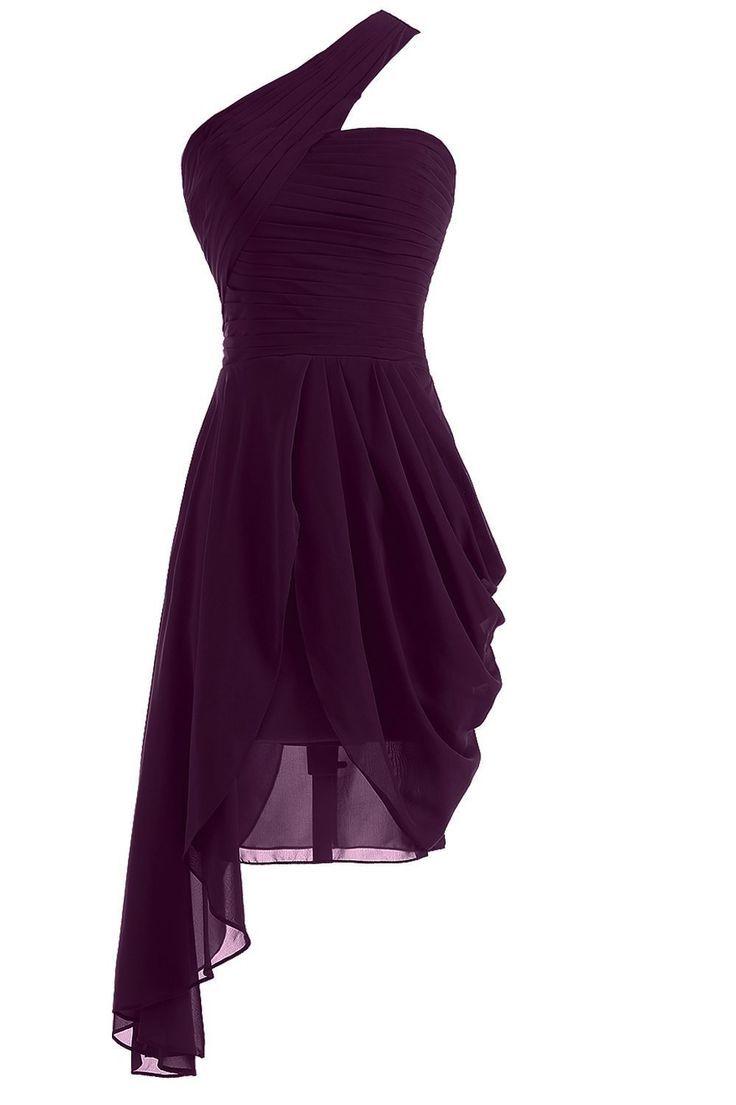 robe de demoiselle d'honneur élégante et courte au genou