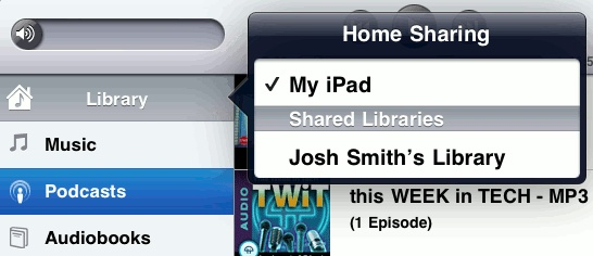 How To Use Home Sharing Music On iPad Mini - P^i  Home Sharing lets you play music, movies, and TV shows from the iTunes library on your Mac or PC. iPad and your computer must be on the same Wi-Fi network.
