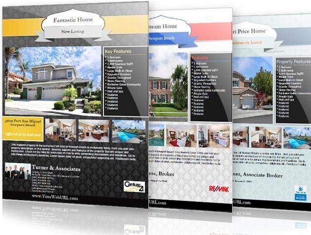 24 best real estate flyer inspiration images on pinterest for Real estate design software