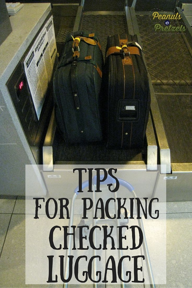 Comply with Checked Baggage Size Rules - Flight Packing Tips - Peanuts or Pretzels