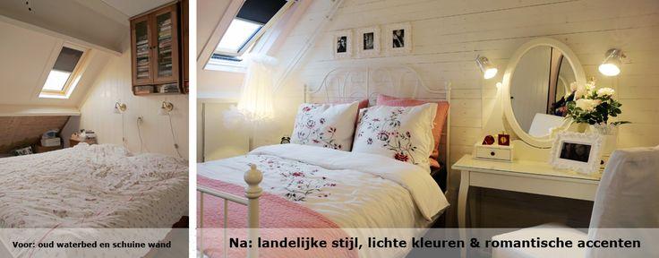 Romantische landelijke slaapkamer