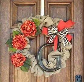 Inspire Me Grey: DIY Monogrammed Fall Wreath tutorial