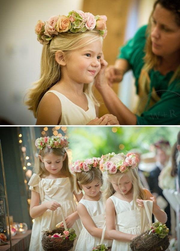 Flower Girl Baskets & head pieces!!!!!