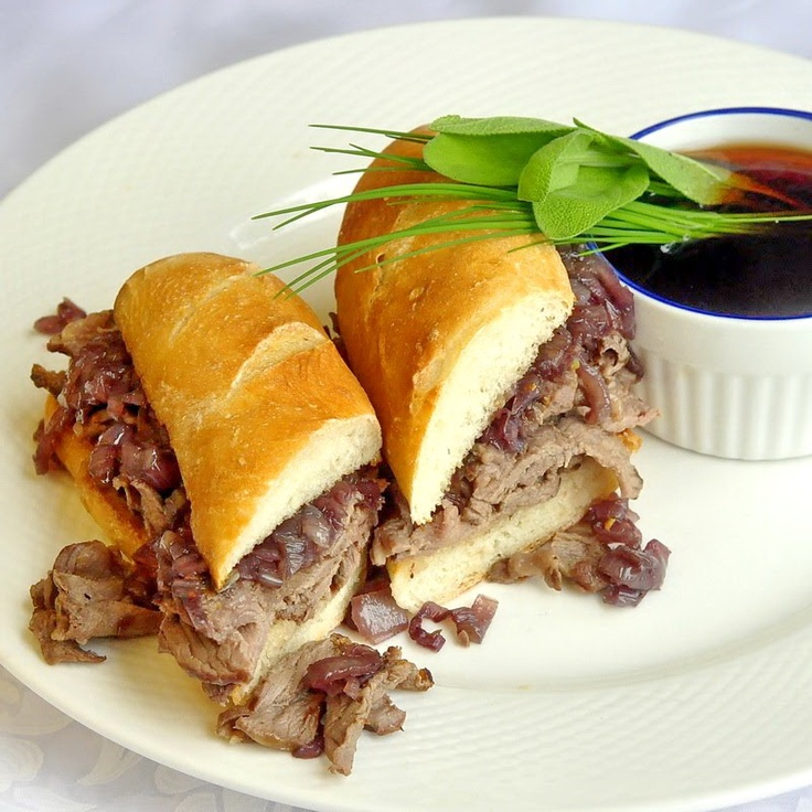 Boeuf au Jus French Dip Sandwich - Rock Recipes -The Best Food & Photos from my St. John's, Newfoundland Kitchen.