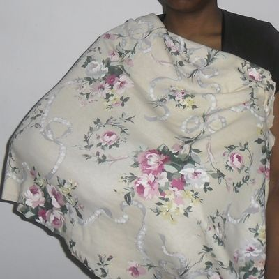 Infinity scarf that doubles as a nursing cover