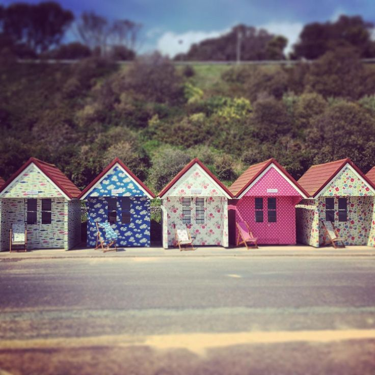 Wow!! Check out the amazing @Cath_Kidston beach huts down at Bournemouth beach! #randomactsofkidston
