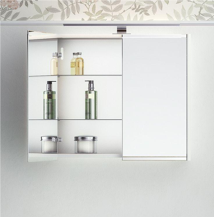 Spegelskåp Graphic med dubbelsidiga spegeldörrar.