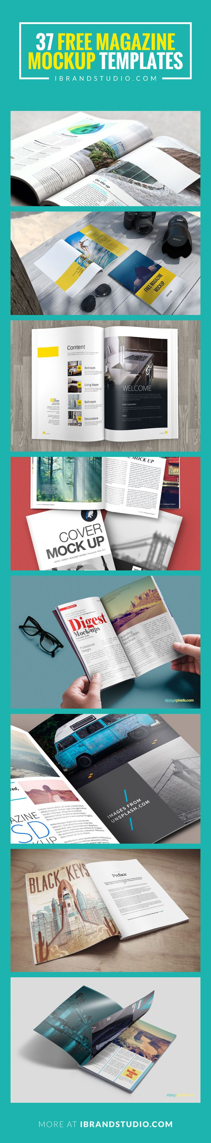 Magazine Mockup Templates (PSD) - Free Download! #mockup #psd