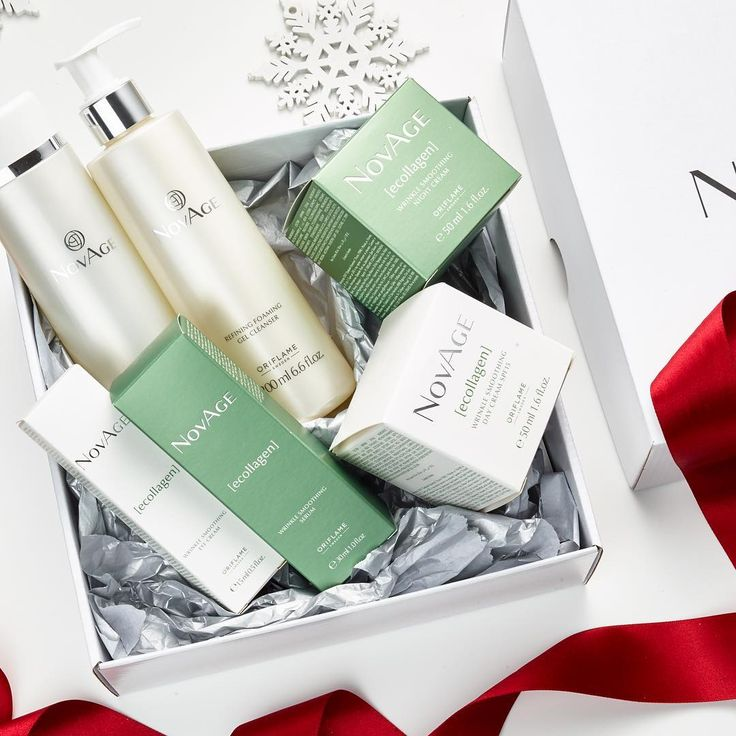 Give the gift of perfect skin! The Ecollagen skin care set is clinically proven to correct wrinkles! #Oriflame #NovAge #SkinCare