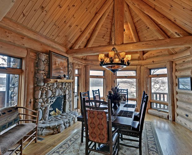 30 Best Images About Beautiful Log Cabin Dining Rooms On