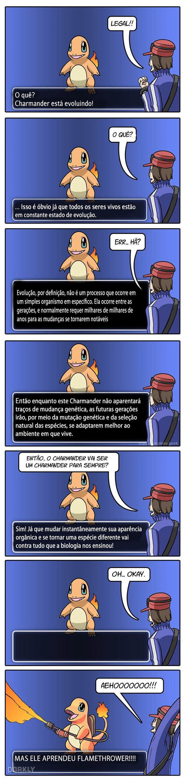 Se a evolução em Pokémon fosse realista