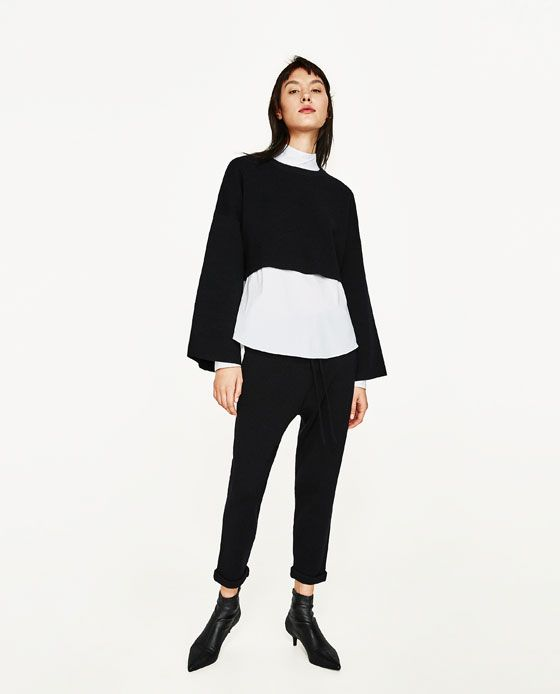 Image 1 of JOGGING TROUSERS WITH CORD from Zara