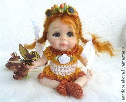 Collectible handgemaakte poppen.  Fair Masters - handgemaakte babypop OOAK Vasilisa .. Handmade.