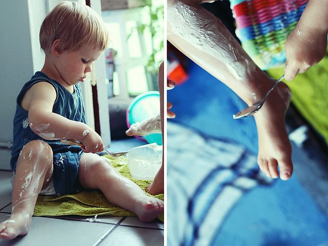 An occupational therapist recommends one of the things you focus on with your kids this summer is to GET MESSY! Post also includes other suggestions for summer activities to promote your kids' development as well.