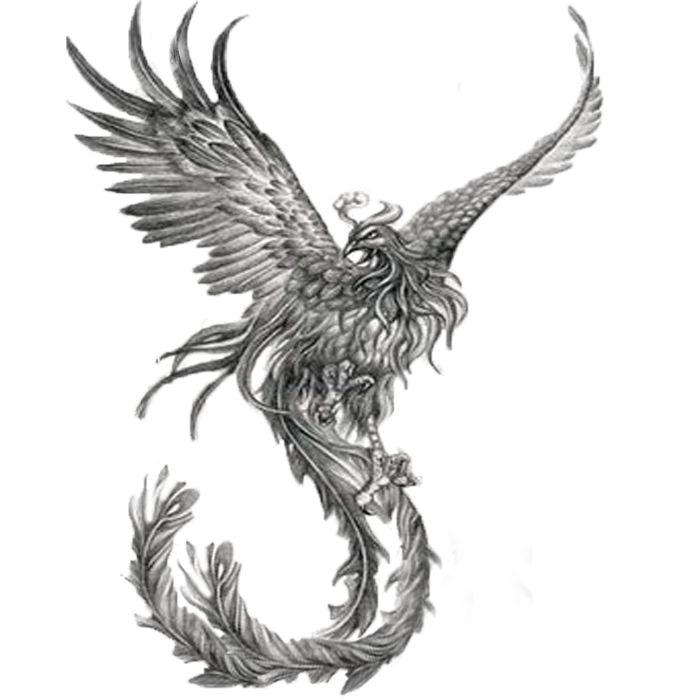 My friend wants me to give him this tattoo, and asked me to play with color to see if it would look better with color or just black and gray....