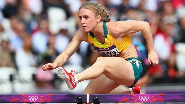 Sally Pearson of Australia leads the field in the women's 100m HurdlesSally Pearson of Australia blew away the rest of the field in the heats of the women's 100m Hurdles, recording the fastest time at the Olympic Stadium.