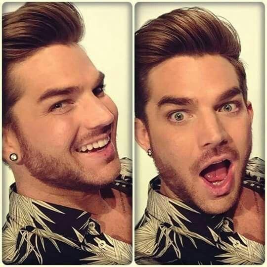 Adam Lambert's cute smile.
