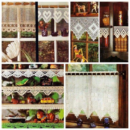 lindevrouwsweb haakpatroontjes uit grootmoederstijd breibreioh wat zijn we blij etc pinterest filet crochet crochet en crochet curtains
