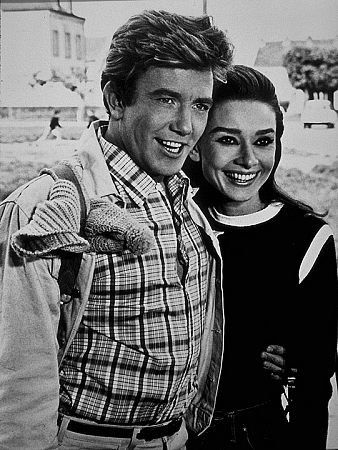 """""""Two For The Road"""" Audrey Hepburn and Albert Finney - the only age-appropriate guy they ever teamed her with."""
