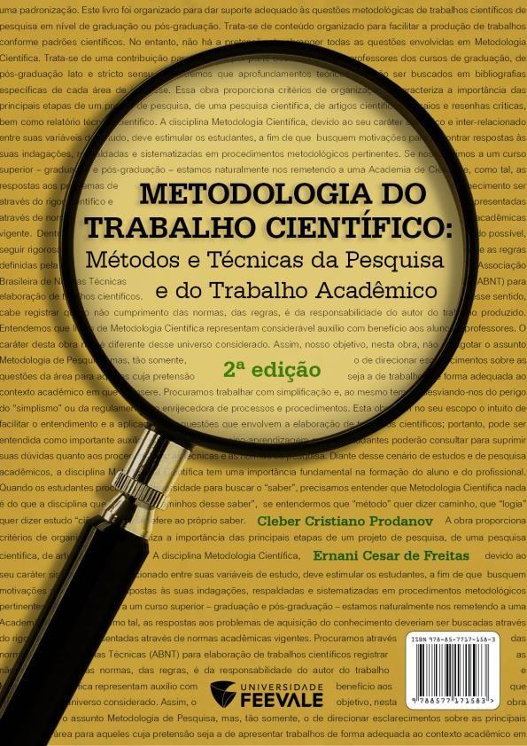 Metodologia do Trabalho Científico: Métodos e Técnicas da Pesquisa e do Trabalho Acadêmico