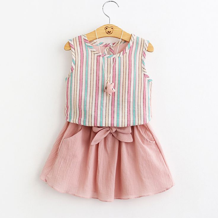 Kids Girls Set 2017 Summer Clothes Baby Girls Clothes T Shirt & skirt Children Toddler Girl Clothing #>=#>=#>=#>=#> Click on the pin to check out discount price, color, size, shipping, etc. Save and like it!