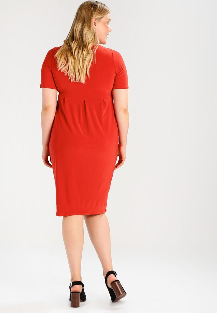 Evans POCKET DRESS - Vestito di maglina - sienna red - Zalando.it