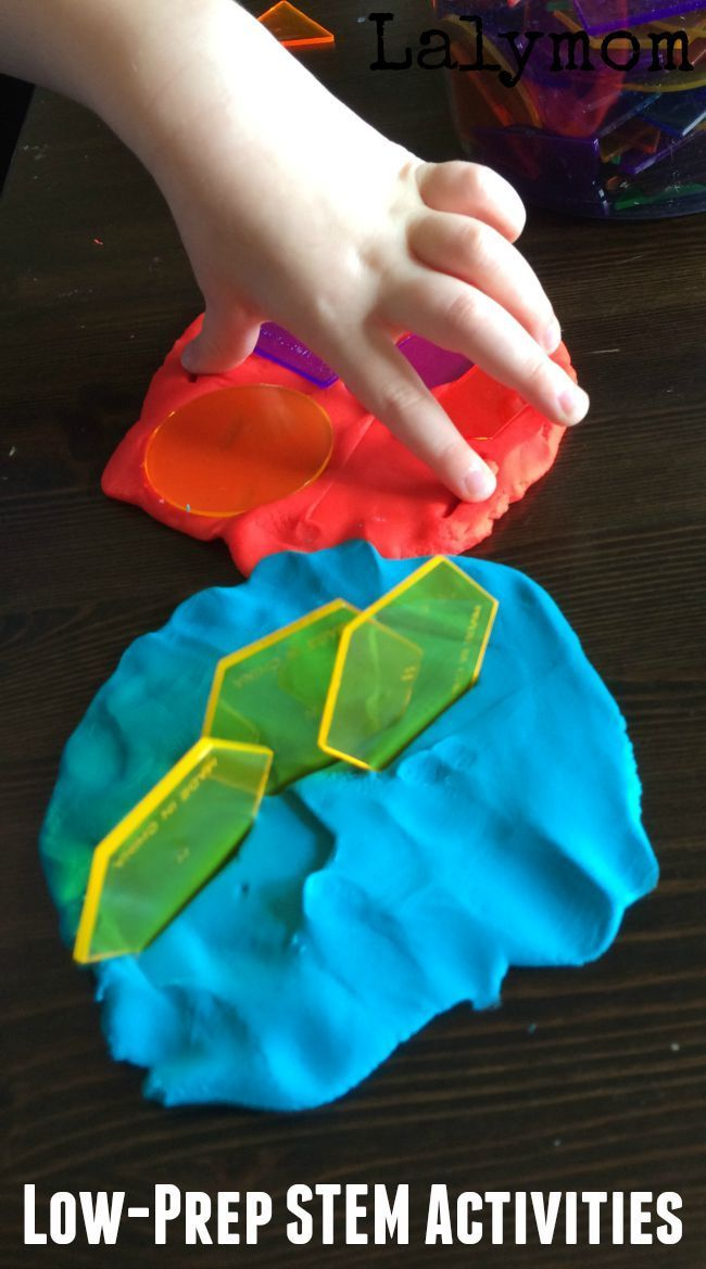 Easy quick STEM activities for kids. Great for older toddlers, preschoolers and kindergartners. #STEM #playdough #toddlers #preschool