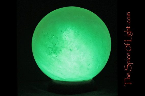 Green Chakra Sphere LIMITED EDITION green Himalayan salt lamp