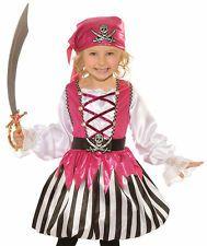 toddler girl pirate   Kids Toddler Girls Pink Pirate Halloween Costume