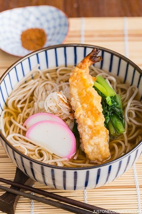 Soba Noodle Soup 温かいお蕎麦
