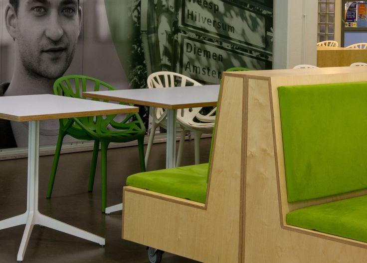 Maatwerk meubilair voor #HvA door #Thereca #Interieurbouw