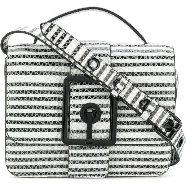 Rebecca Minkoff snakeskin effect striped shoulder bag (8 230 UAH) ❤ liked on Polyvore featuring bags, handbags, shoulder bags, white, shoulder hand bags, stripe purse, shoulder handbags, rebecca minkoff and white purse