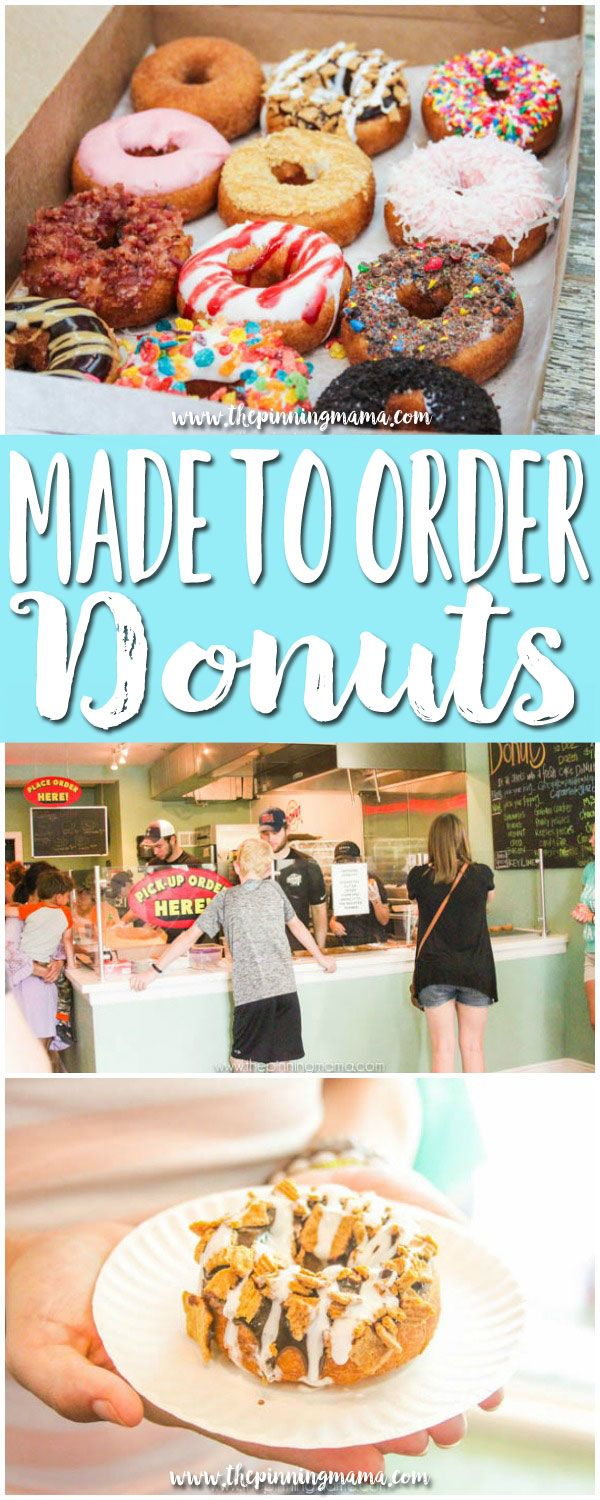 Made to order donuts at the Donut Experiment on Anna Maria Island Florida